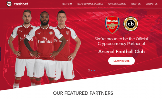 Arsenal Football Club Signs a Cryptocurrency Sponsorship Deal With CashBet